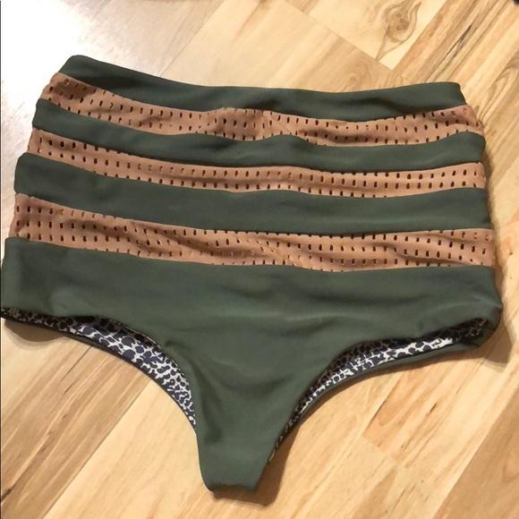 acacia swimwear Other - Acacia Swimwear high waisted bottom green/beige S
